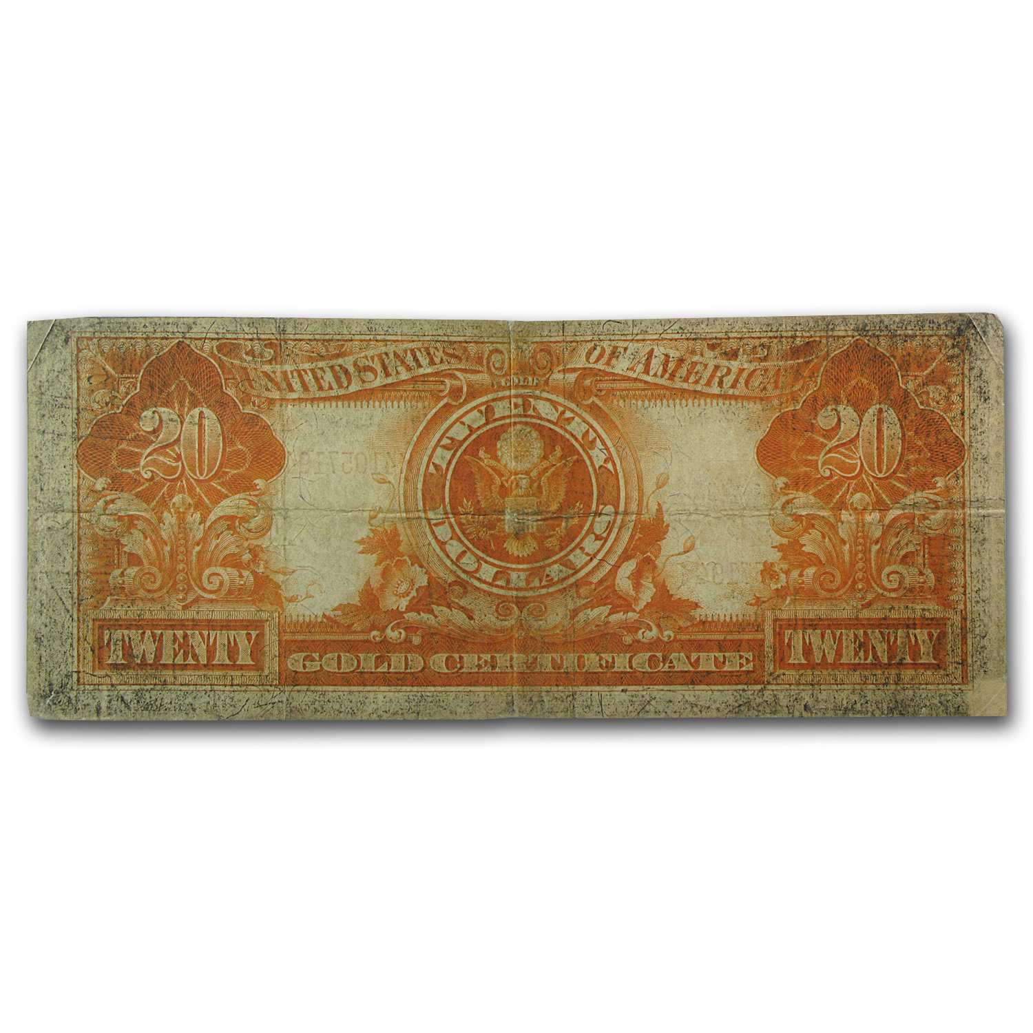 1922 $20 Gold Certificate Washington Fine-12 PMG